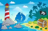 Lighthouse theme image 2 — Stock Vector