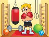 Sport en gym thema afbeelding 6 — Stockvector