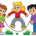 Kids play theme image 1 — Stock Vector
