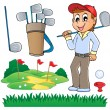 Image with golf theme 6 - Imagen vectorial