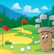 Image with golf theme 2 - Stock Vector