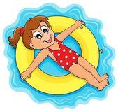 Summer water activity theme 1 — Stock Vector