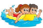 Summer water activity theme 3 — Stock Vector