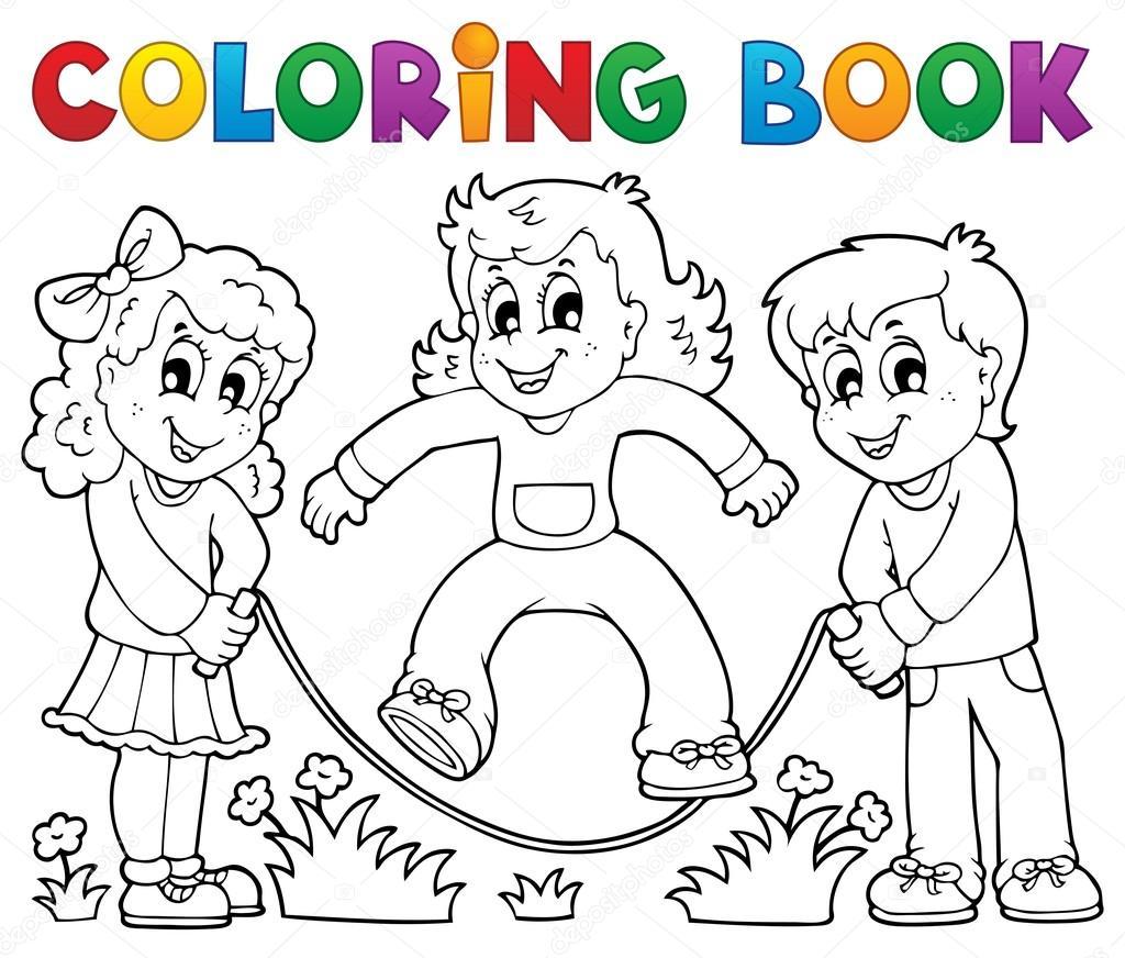 Disegni da colorare bambini libro giocare tema 1 - Toddler libro da colorare ...