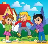 Çocuk oyun Tema Resim 2 — Stok Vektör