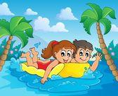 Summer water activity theme 4 — Stock Vector