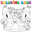 Coloring book kids play theme 5 — Stock Vector #25345017
