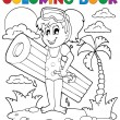 Coloring book summer activity 2 — Imagen vectorial