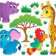 Stock Vector: Cute Africanimals collection 1