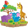 Stock Vector: Cute Africanimals theme image 2