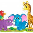 Stock Vector: Cute Africanimals theme image 4