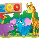 söta afrikanska djur temabild 6 — Stockvektor