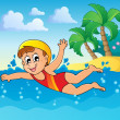Royalty-Free Stock Vector Image: Swimming theme image 2