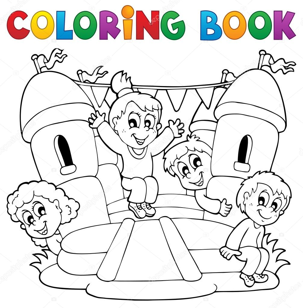 Disegni da colorare bambini libro giocare tema 5 - Toddler libro da colorare ...