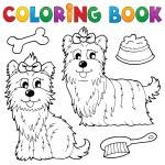 Coloring book dog theme 6 — Stock Vector #26329169