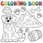 окраска книга собака тема 7 — Cтоковый вектор