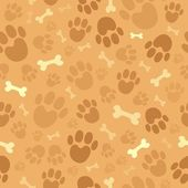 Dog theme seamless background 1 — Stock Vector