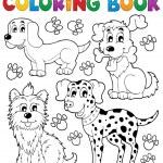 Coloring book dog theme 5 — Stock Vector #26331119