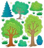 Tree theme collection 1 — Stock Vector