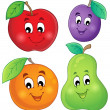 Fruit theme image 1 — Stock Vector