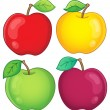 Various apples collection 2 — Stock Vector