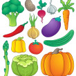 Vegetable theme collection 1 — Stock Vector