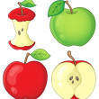 Various apples collection 1 — Stock Vector