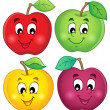 Various apples collection 3 — Stockvektor
