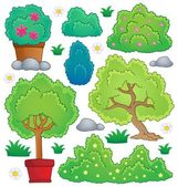 Plants and bush theme collection 1 — Stock Vector