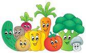 Vegetable theme image 2 — Stock Vector