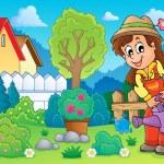 Image with gardener theme 2 — Stock Vector #28489525