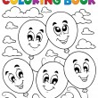 Coloring book balloons theme 2 — Stock Vector