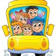 Image with school bus theme 1 — Stock Vector