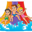 Vector de stock : Image with aquapark theme 1