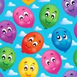 Seamless background with balloons 3 — Stock vektor