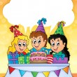 Kids party theme image 2 — Stockvectorbeeld