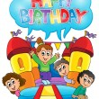 Kids party theme image 6 — Stockvektor