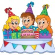 Kids party theme image 1 — Stock Vector