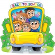 Image with school bus theme 2 — Stock Vector