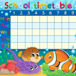 School timetable theme image 6 — Stock Vector
