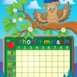 School timetable theme image 5 — Stock Vector