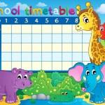 School timetable theme image 7 — Stock Vector #29127381
