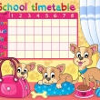 School timetable thematic image 5 — Stock Vector