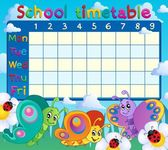 School timetable topic image 7 — Stock Vector