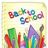 Back to school theme 6 — Stock Vector