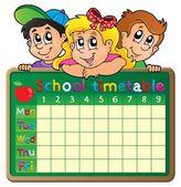 School timetable theme image 4 — Stock Vector