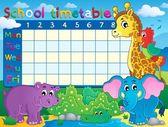 School timetable theme image 7 — Stock Vector