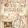 Vector de stock : Back to school topic 4