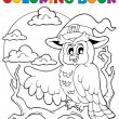 Stock Vector: Coloring book Halloween owl 1