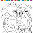 Coloring book Halloween owl 1 — Stock Vector #30044169